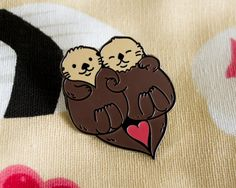 Significant Otters Enamel Pin