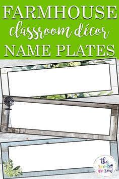 Do you love shiplap, buffalo plaid, farmhouse foliage, and corrugated metal as much as I do? If so, you'll love this versatile, editable name tag/ name plate set to match your farmhouse-themed classroom! It includes 36 different name tag/plate designs that are modern and fun, and they are all editable! You are able to add your own text to each tag/plate, so really, these name tags/plates could become so much more! #farmhouseclassroomdecor #farmhousetheme #classroomnameplates