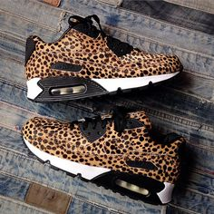 Nike Air Max 90s in Cheetah Print Pony Hair
