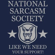 National Sarcasm Society T-Shirt Funny Cheap Tees TextualTees.com - 4
