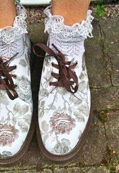 Dr Martens floral shoes