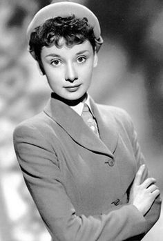 Promotional photographs of Audrey Hepburn for the film Young Wives' Tale, 1951. Photograph from The Kobal Collection.