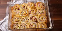 These ham and Swiss cheese rolls are absolutely heavenly! - Recipes - My Fork Ham Recipes, Appetizer Recipes, Croissant Dough, Confort Food, Cheese Rolling, Swiss Cheese, Appetisers, Clean Eating Snacks, Food Inspiration