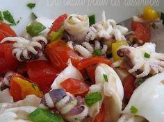 Salade de calamars pour antipasti italiens