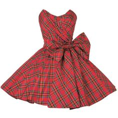 Swainby Dress ($598) ❤ liked on Polyvore featuring dresses, vestidos, short dresses, women, net dress, christmas dresses, christmas cocktail dresses and short plaid dress
