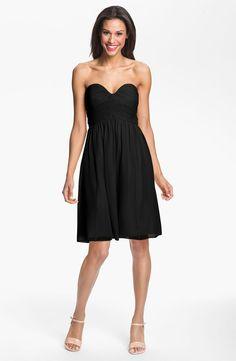Donna Morgan 'Morgan' Strapless Silk Chiffon Dress (Regular & Plus) available at #Nordstrom in Black