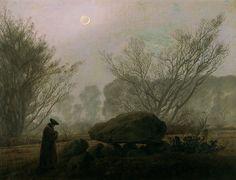 caspar david friedrich | Caspar David Friedrich - Paseo al anochecer