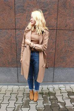 fall uniform: wool turtleneck, trench and mom jeans осенняя униформа: шерстяной свитер, тренч и джинсы mom jeans #style #minimalism #capsulewardrobe #classictrenchcoat #beigesweater #модаистиль #минимализм #капсульныйгардероб #стильныйобраз #модныйлук #blondhair #blond #блондинка #модныйобраз