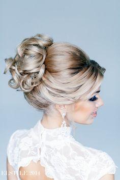 Classic Updo | Feminine Bridal Hair http://www.pinterest.com/modestbride/