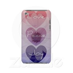 Peace, Love, Joy Flower iPod Touch Case