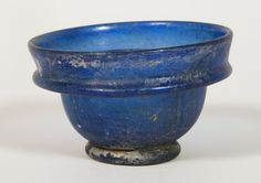 "1st AD Roman blown glass bowl. 4.5 x 7.7 x 7.7 cm (1 3/4"" x 3"" x 3""). Gift of Theodore W. and Frances S. Robinson, 1947.894"