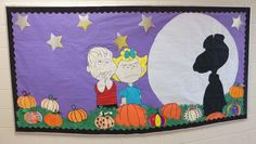 The Great Pumpkin Bulletin Board - I had my students decorate pumpkins as part of their October family project.