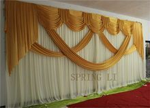 Online Shop New Fashion 10ft 20ft Wedding Stage Curtain Purple