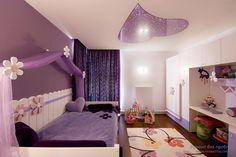 Purple Bed with Purple Curtain in Purple Color Scheme of Modern Girls Bedroom Design Ideas. Wonderful Purple Teenage Girls Bedroom Design Ideas with Classic Purple Bedding Set in Purple Curtain Canopy. Purple Bedrooms, Bedroom Colors, Bedroom Decor, Bedroom Ideas, Design Bedroom, Bedroom Wall, Teen Bedroom, Bedroom Themes, Purple Bedding