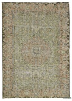 """For a contemporary look with a vintage appeal, we source rugs in excellent condition and carefully trim the piles to achieve an eye-catching """"distressed"""" look. Woven with wool on cotton, this fine rug measures 6'9'' x 9'8'' (205 cm x 294 cm). In addition to being unique and hand-made, these rugs make a very special statement about bridging generations of artisanal skill and knowledge over time with a charming look that complements any modern or bohemian décor. Check out our article Get The…"""