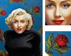 Marilyn Monroe Original Oil Portrait 18 x 24 | This image first pinned to Marilyn Monroe Art board, here: http://pinterest.com/fairbanksgrafix/marilyn-monroe-art/ || #Art #MarilynMonroe
