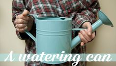 This watering, used year-round, can double as a candy carrier for Halloween. via @Julia Berry