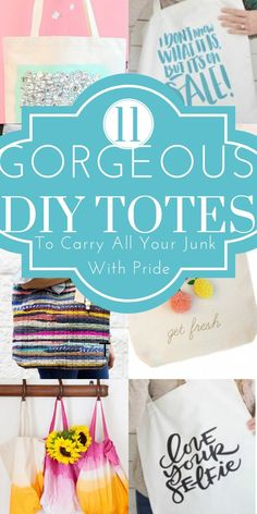 These tote hacks are THE BEST! I am so happy I found these GREAT DIY tote ideas and tips! Now I have great ways to make totes for myself & gifts on a budget. So pinning!
