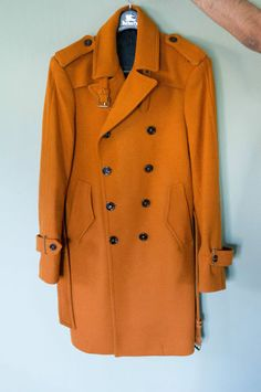 Zara Men's Orange Wool Trench $165