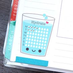 Kawaii Water Tracker Stickers Stay hydrated this summer with these kawaii water tracker planner stickers and printables that will remind you to drink more water! Bullet Journal School, Bullet Journal Inspo, Bullet Journal Sleep Tracker, Bullet Journal Health, Bullet Journal Starter Kit, Bullet Journal Weekly Layout, Bullet Journal Writing, Bullet Journal Aesthetic, Bullet Journal Themes
