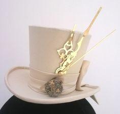 Steampunk bridal mini top hat. www.jaynealisonmillinery.co.uk