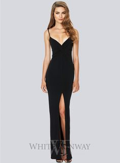 Monroe Twist Maxi. A gorgeous maxi dress by Nookie. Featuring a plunged neckline, twist detail on the waistline and high front split.