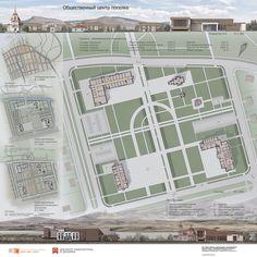 Общественный центр посёлка Map Layout, Fantasy City, Maps, Layouts, Floor Plans, Architecture, Arquitetura, Fantasy Town, Blue Prints