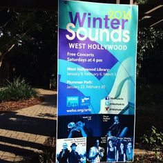 It's the #firstdayofwinter and we can't wait for our free #wintersounds concert series launching on January 9 in #weho!