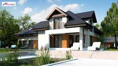 Z284 D GP2 to wyjątkowy dom z kategorii projekty domów jednorodzinnych Luxury House Plans, Home Fashion, Beautiful Homes, Garage Doors, Sweet Home, Villa, Room Decor, Farmhouse, Exterior