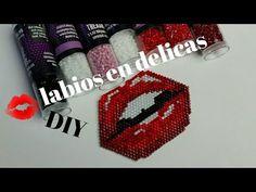 PASO A PASO LABIOS EN DELICAS/LABIOS MIYUKI - YouTube Bracelet Crafts, Peyote Patterns, Beading Patterns, Brick Stitch, Beading Tutorials, Loom Beading, Seed Beads, Hand Embroidery, Bracelets
