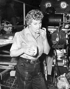 Lucille Ball on the set of The Lucy-Desi Comedy Hour (1958)