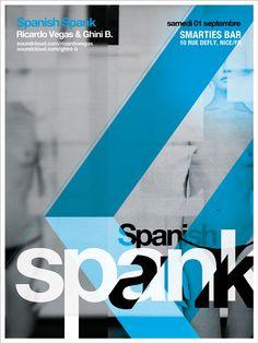 Spanish Spank poster design / Smarties Bar w.e. event (09 01 2012)