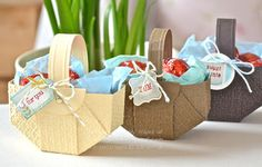 Stampin' Up ideas and supplies from Vicky at Crafting Clare's Paper Moments: Easter Basket tutorial