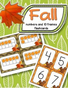 ***FREE*** A set of BIG Fall theme number flashcards 0-20, plus a set of 10-frame flashcards, 0-20 - for centers, individual work, and small group teaching. They can used for matching, sequencing, subitizing, recognition, and memory, concentration and snap games.