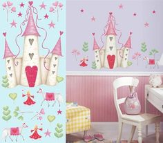 mural princess statements for kids room   Princess Castle Wall Mural - Wall Sticker Outlet