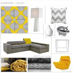 sunshine & slate  #color #style #design #Interior