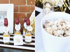 party favors: mini champagne