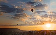 Floating in the Clouds - Cappadocia - Turkey #hotairballoon #cappadocia #bucketlist #sunrise #travel #wanderlust #beautiful #amazing #photos #photography #pictures