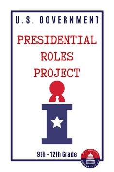This is an amazing four-day presidential role infographic project. I placed my students into heterogeneous groups and assigned each group a role. They had to research the purpose of that role, give modern-day examples of that role, and historical examples of that presidential role. They then presented their roles to the class. It made for a fun week of project presentations.