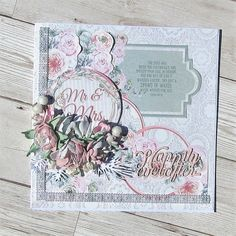 Absolutely stunning card by the sensational Carole Wright using FabScraps C109 A Moment In Time Collection.