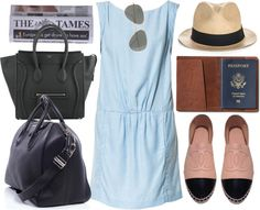airport outfit by hellotia featuring military sunglasses