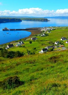 Uig, Isle of Skye, Scottish Highlands. Here you can see inspiration for the tones and colours used by Angie Lewin.