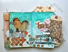 Ashli's pages in her mini book are Amazing.  she created this with the journal kit designed by Shari Carroll for Simon Says Stamp.