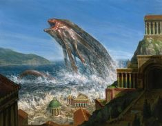 MtG Art: Floodtide Serpent from Born of the Gods Set by Steven Belledin - Art of Magic: the Gathering Fantasy Images, Sci Fi Fantasy, Fantasy Artwork, Fantasy World, Fantasy Fiction, Fantasy Creatures, Mythical Creatures, Scary Mermaid, Art Assignments