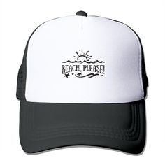 """Adult Beach Please The Adjustable Snapback Mesh Hat. 100% Nylon Mesh Back Keeps You Cool. 100% Polyester Foam Front. Hand Washing Only. Adjustable From 17"""" To 24"""". Customized Pattern Design,Perfect As A Gift,High Quality And Environmentally Friendly Printed."""