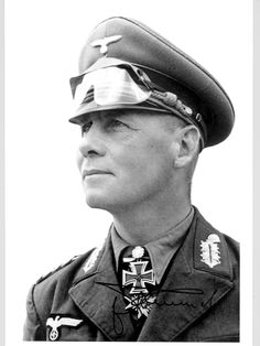 "Field Marshall ""Erwin Rommel"" who was a sly tactician during World War II and whose exploits in North Africa earned him the nickname ""The Desert Fox."