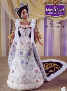 Queen Elizabeth II Outfit for Barbie Doll Annies Royal Court Crochet Pattern New | eBay