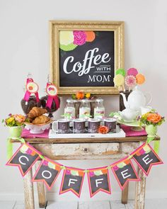 Coffee with Mom Mother's Day Party via Kara's Party Ideas   KarasPartyIdeas.com (6)