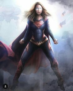 FanArt of Melissa Benoist as Supergirl with my redesign.