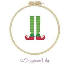Instant Download Cross Stitch Pattern  Elf Legs  by SkygazerLily, $3.00